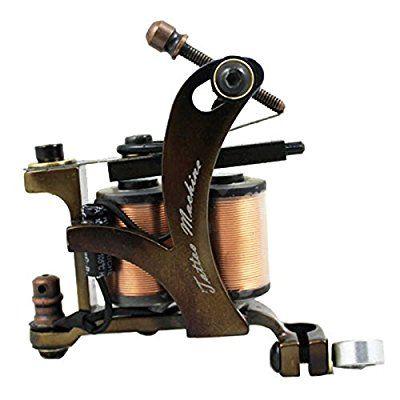 KIE Carved lettering fog secant professional tattoo machine tattoo machine equipment , 10 coil