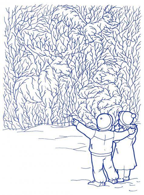 Зимняя раскраска с заданием | Скрытые картинки ...