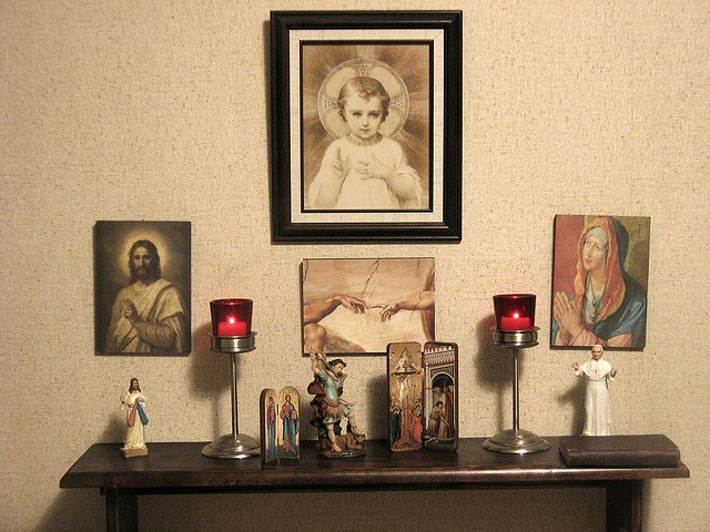 42 best home altar ideas images on pinterest home altar for Catholic decorations home