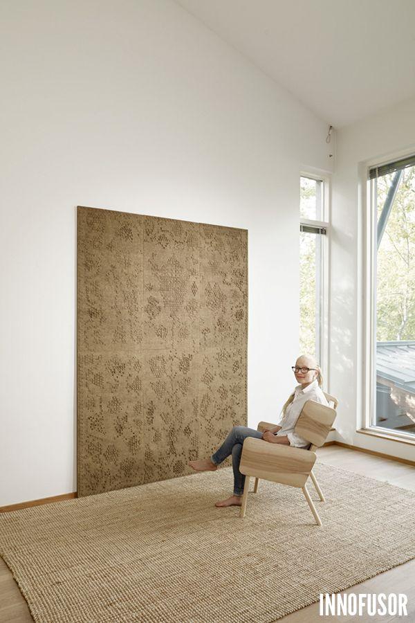Gran Ru Pori acoustic wall panel collection, designed by Wilhelmiina Kosonen. See more at www.granru.com! #Scandinavian #Design #Innofusor #Acoustics