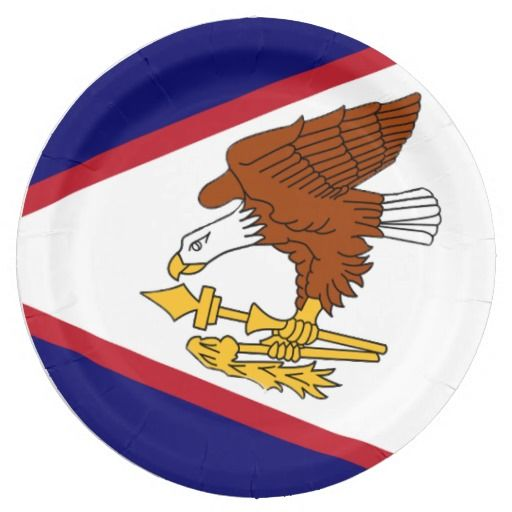 American Samoa Island paper plates