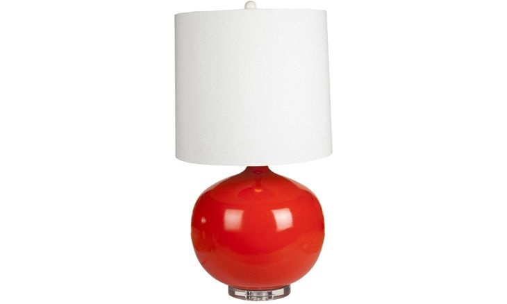 Mid century modern Cleaver (Red) Lamp at Joybird