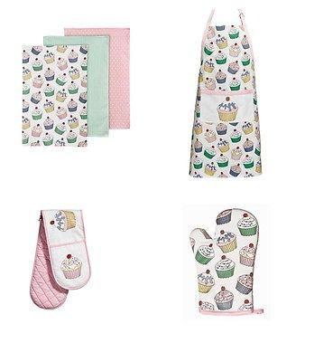Cupcake design single double oven #glove apron tea towels #modern kitchen #brandn,  View more on the LINK: http://www.zeppy.io/product/gb/2/361282073669/