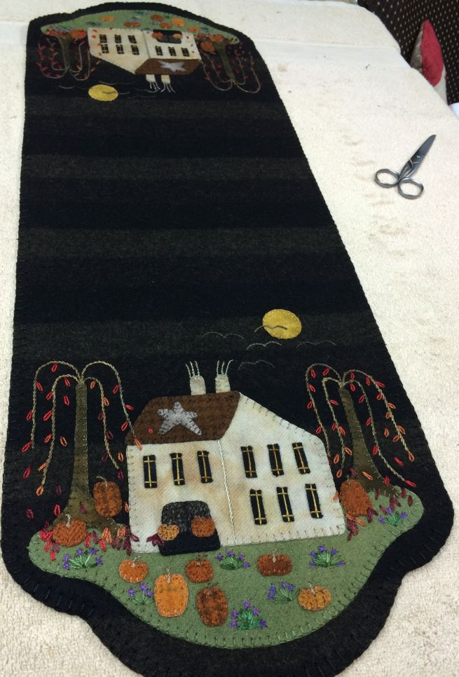 Pumpkin Farm Table Mat ~ new from Lisa Bongean of Primitive Gatherings