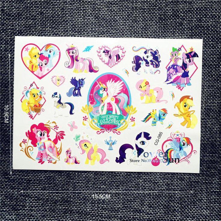 1 ШТ. Мода My Little Pony Водонепроницаемый Татуировки Наклейки Мультфильм PCG-085 Ребенок Боди-Арт Рука Tatouage Taty Татуировки Ребенка Летом стиль