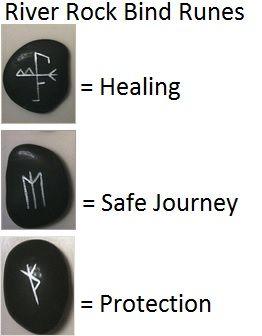 river rock bind runes (symbols)