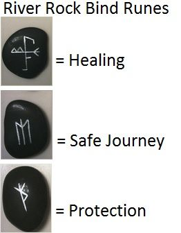 river rock bind runes