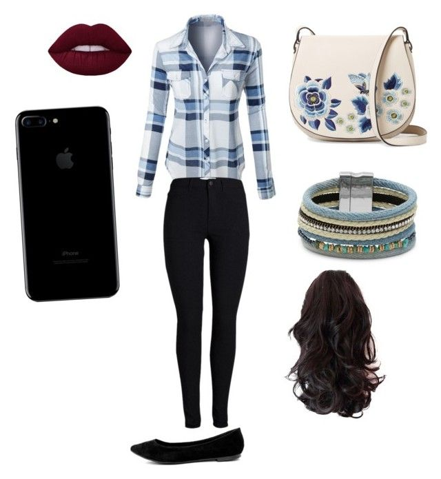 """Casual outfit 🌕"" by marango1706 on Polyvore featuring moda, LE3NO, French Connection, Design Lab y Breckelle's"