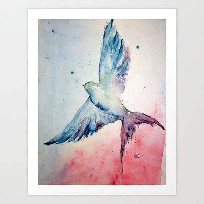 Flight Art Print by Megan T Gibbens - $17.00