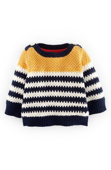 Mini Boden 'Nautical' Cotton & Cashmere Blend Sweater (Baby Boys) available at #Nordstrom