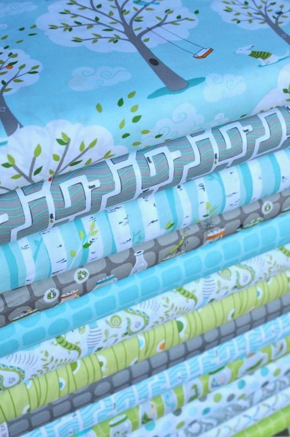 backyard baby - pretty blue fabric - http://www.hawthornethreads.com/