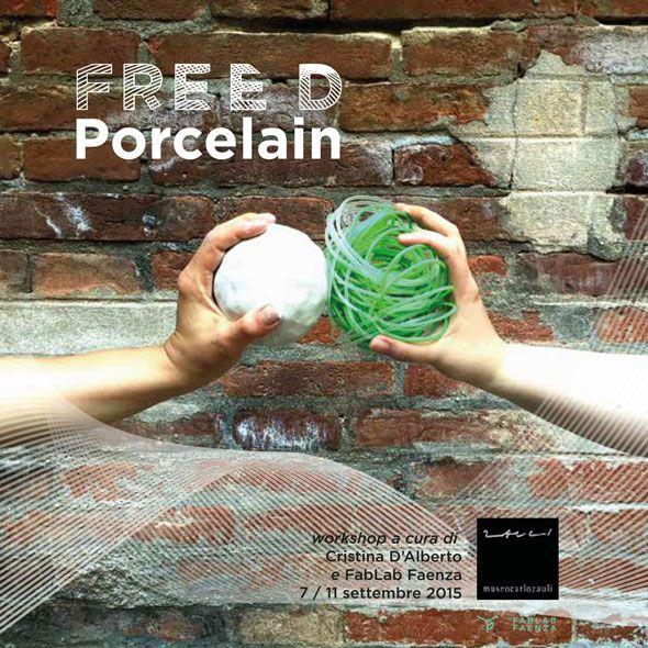 Museo Carlo Zauli | MCZ studio / workshop di ceramica / Cristina D'Alberto & Fab Lab Faenza // FREE D PORCELAIN // 7 / 11 settembre 2015