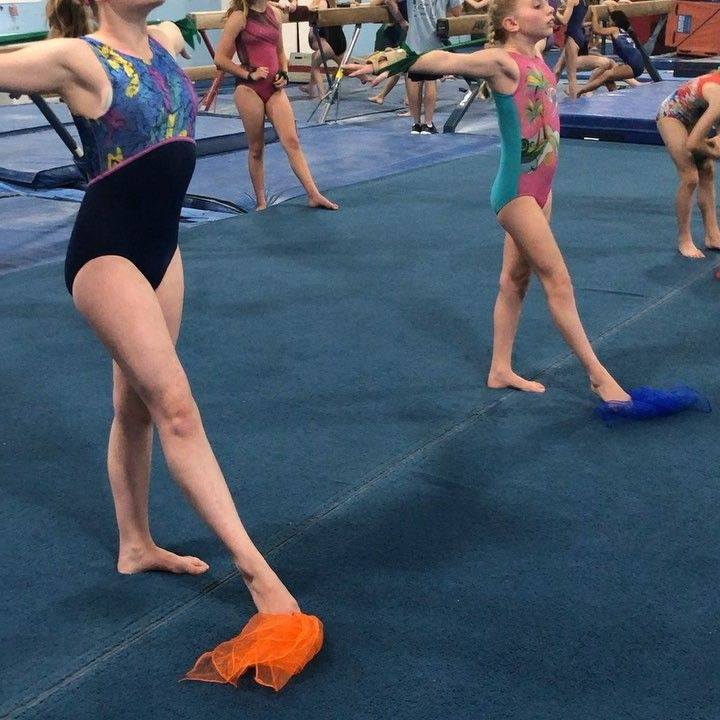 Dancing Our Way Through Monday With This Awesome Drill We Used A Scarf For The Girls To Work On T Gymnastics Coaching Gymnastics Skills Gymnastics Lessons
