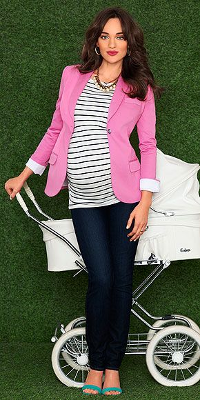 Spring Maternity Trends : People.com  Bright Blazers