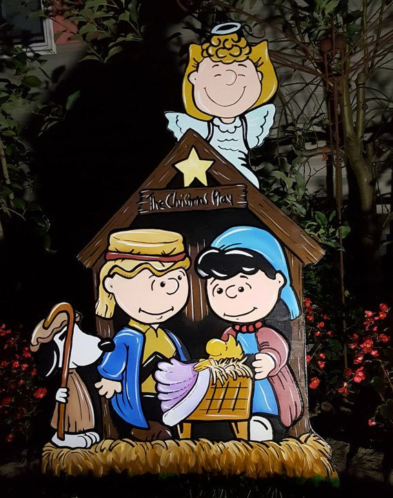 Hey, I found this really awesome Etsy listing at https://www.etsy.com/listing/478435133/peanuts-nativity-christmas-yard-art