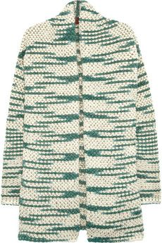 Missoni  Metallic-flecked wool-blend cardigan