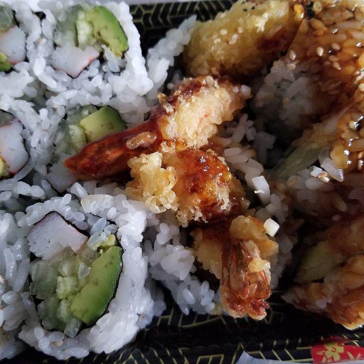 Sushi Fix:California roll and Shrimp Tempura roll