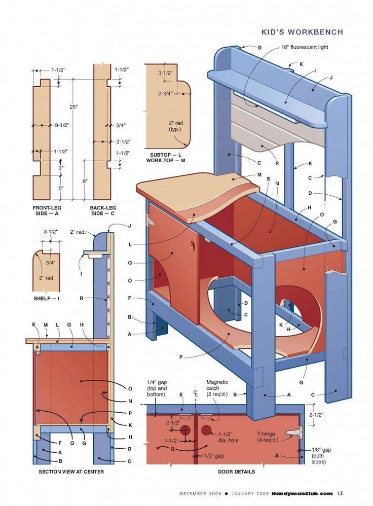 kids workbench cutlist 755x1024 How To Build a Kids Workbench
