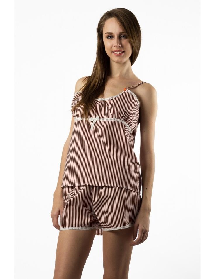 Zega Store - Pijamale Mushroom, culoarea alb cu visiniu - Femei, Pijamale