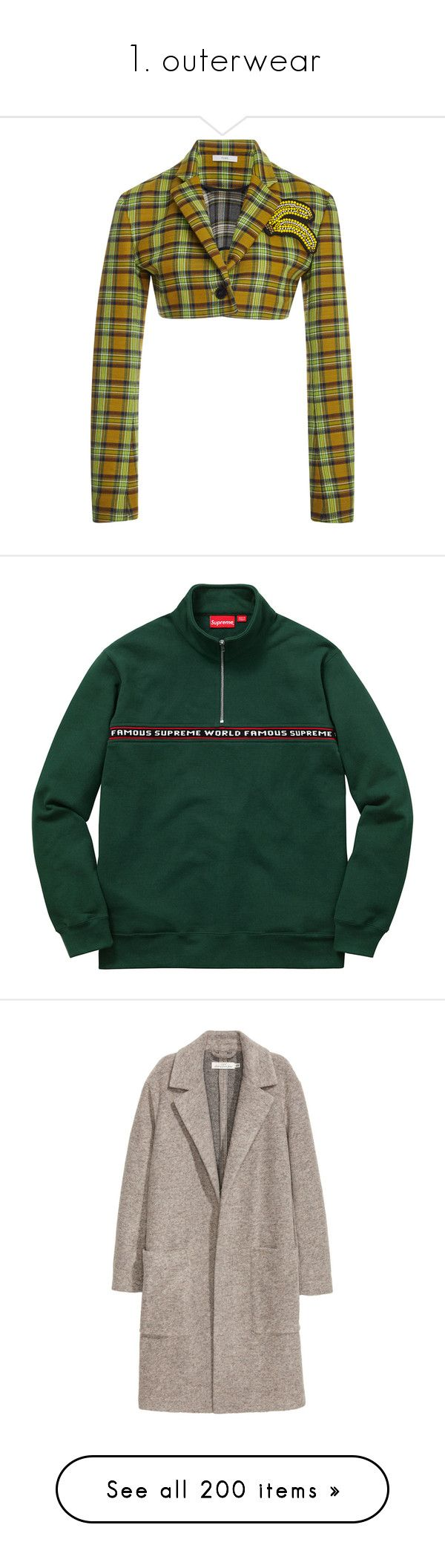 """1. outerwear"" by niya-gurl ❤ liked on Polyvore featuring outerwear, jackets, blazer, plaid, bolero jackets, white blazer jacket, white bolero, cropped bolero, tartan jacket and men's fashion"
