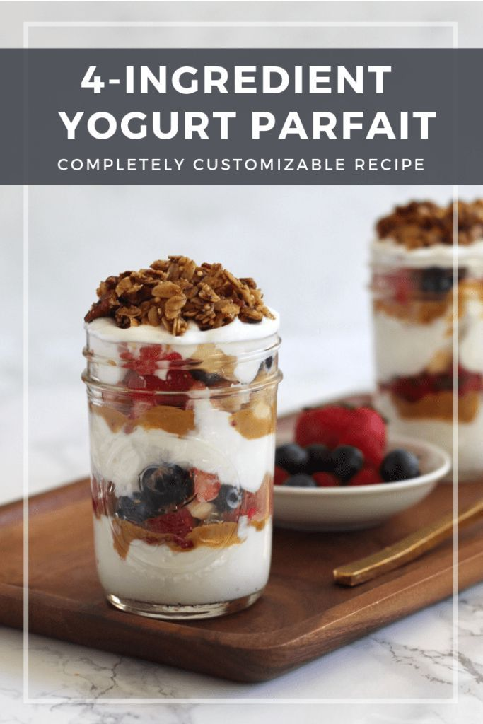 Looking For A Quick Make Ahead Breakfast Throw This Healthy Yogurt Parfait Together In 5 Minutes Or Less Complete Healthy Yogurt Parfait Healthy Yogurt Food
