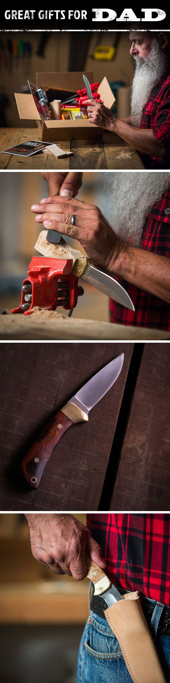 Unlike men and Socialist paychecks, not all knives are created equal. We've found that the knives guys trust most are the ones they make themselves. The Knife-Making Project Kit gives every guy the opportunity to design, craft, and perfect his new best friend. This is sure to be one of the projects your dad will most remember this Father's Day.