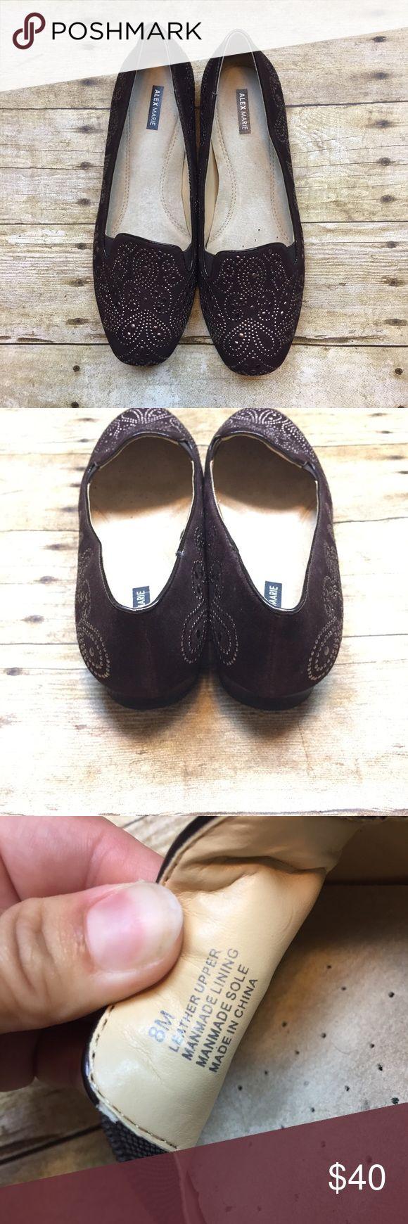 Alex Marie Leather Stud Embellished Black Loafer 8