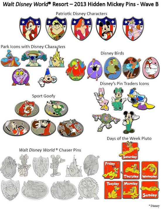 New Hidden Mickey Pins at Disney Parks