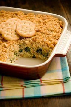 Paula Deen's Broccoli Casserole - You know anything topped with ritz is good !!