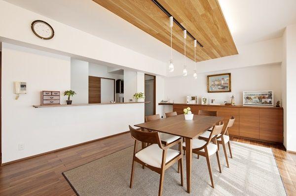 折り下げ天井 キッチン 板張り の画像検索結果 内装 室内装飾 キッチン
