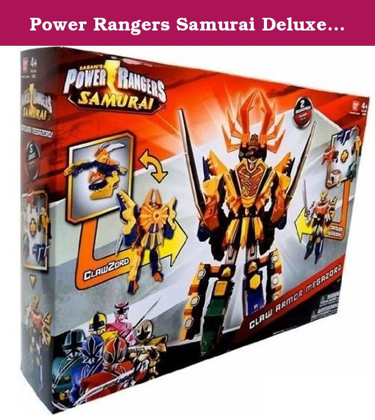 Power Rangers Samurai Deluxe DX Action Figure 2Pack Claw Armor Megazord. The iconic Power Rangers Megazords have a sleek Samurai look! This Power Rangers DX Megazord Action Figure 2Pack set includes two Megazords that combine to make the Claw Armor Megazord (as seen in the TV series). Each Megazord has three ways to play Morph into Megazord mode Morph in Zord mode. Collect and combine with additional Zords in the ZordBuilder Collection to create your own Ultimate Megazord! The ZordBuilder...
