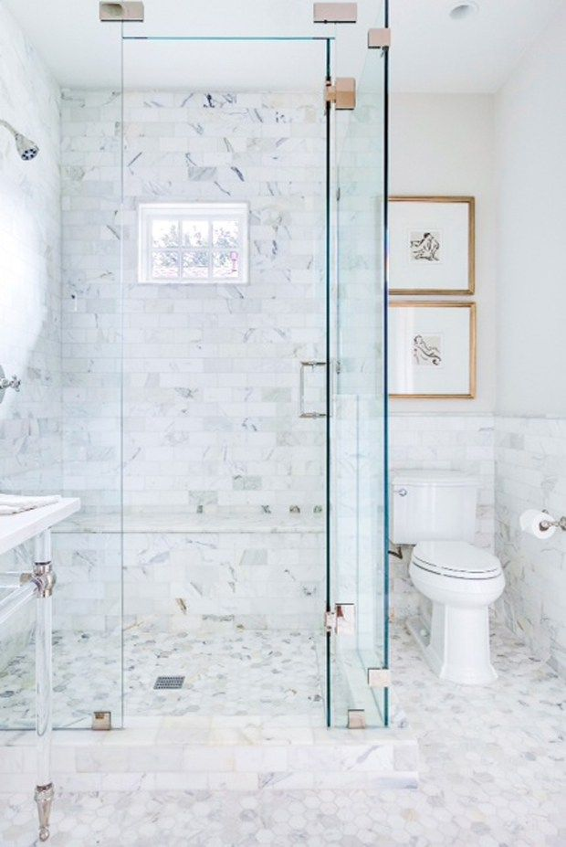 Florida White Marble Bathrooms Glass Shower Enclosures Bathroom Inspiration