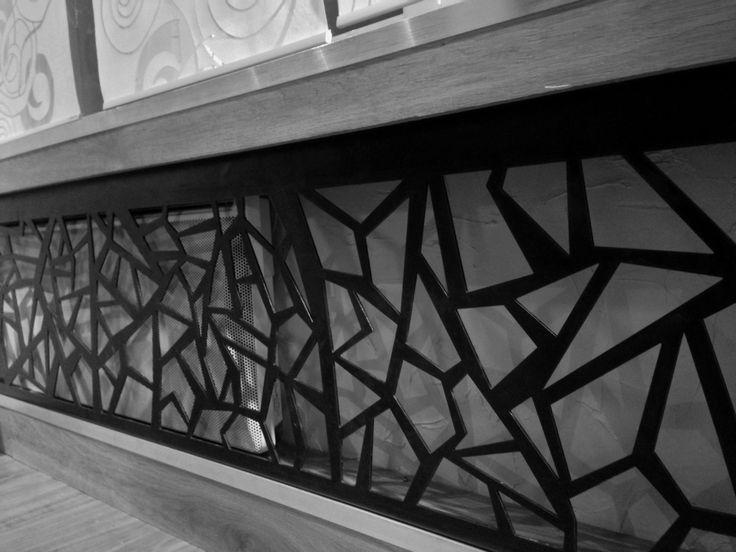 Aménagement intérieur - Tôle de décoration en acier patiné - Art Métal Concept Quimper - http://artmetalconcept.e-monsite.com/album/agencement-interieur/