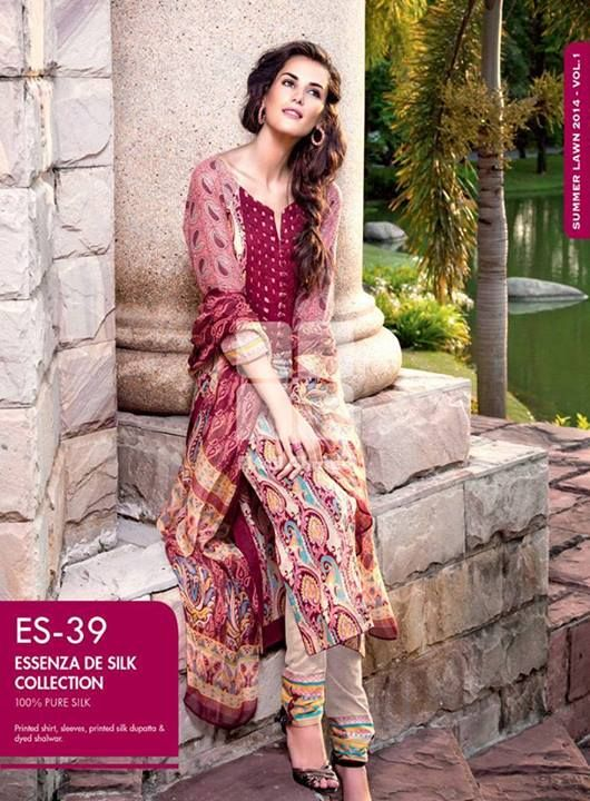 Lawn Collection 2014, Gul Ahmed Designs, Pakistani Dresses, Women Clothing