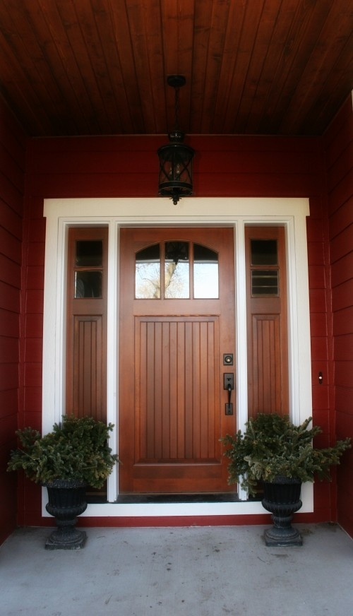 Red Front Door Brown House 52 best red homes images on pinterest | red houses, exterior house