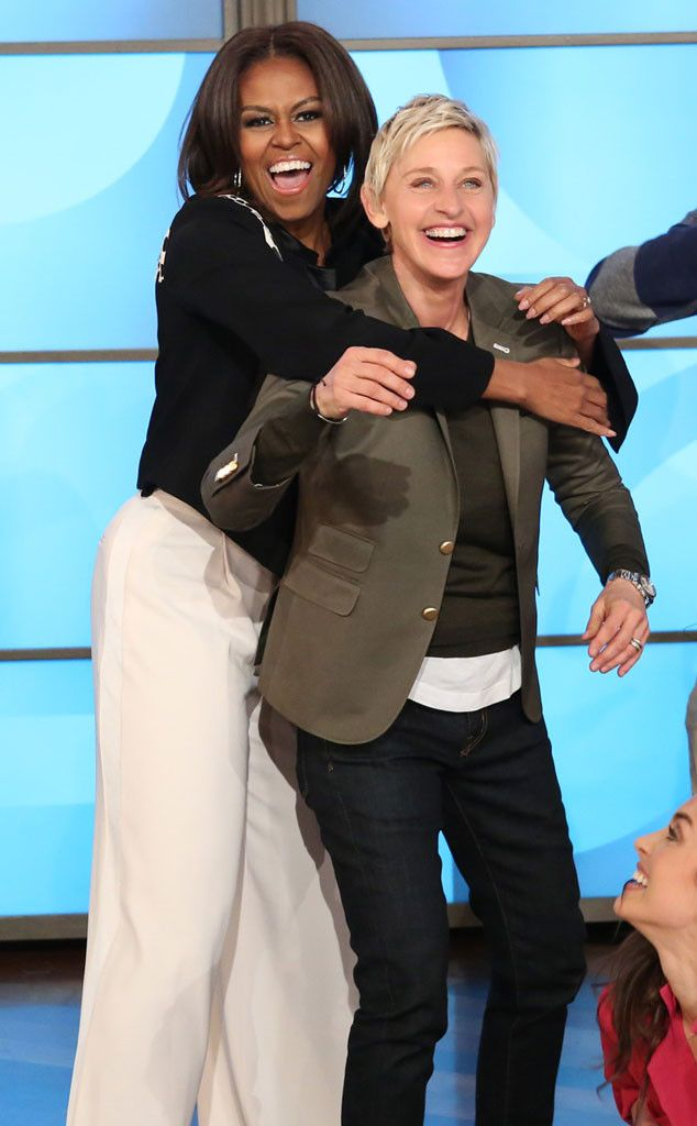 Michelle Obama and Ellen DeGeneres Break It Down to Mark Ronson and Bruno Mars' Uptown Funk?Watch Now! | E! Online Mobile