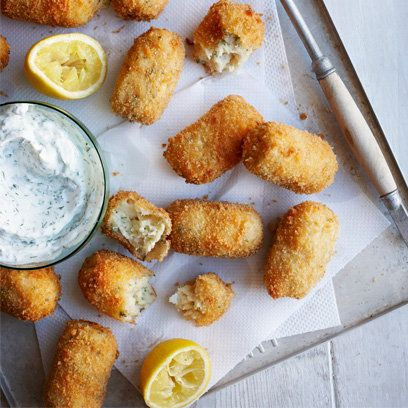 Maria Elia's Salt Cod Croquettes recipe. For the full recipe, click the picture or visit RedOnline.co.uk
