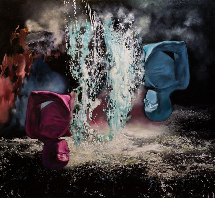 EKAV-ARTIST New Generation 4 sergisi: SEFA KARAKUŞ - The Clash Tuval üzerine yağlıboya, 110x120cm, 2018