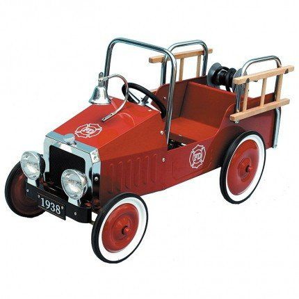 Classic Red Fire Engine Pedal Car