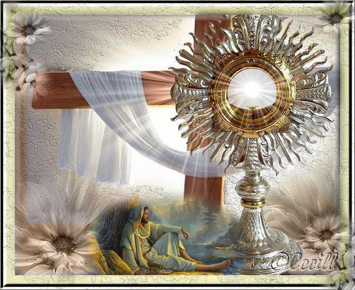 Santa María, Madre de Dios y Madre nuestra: Oración al Santisimo Sacramento. Clica en la imáge...