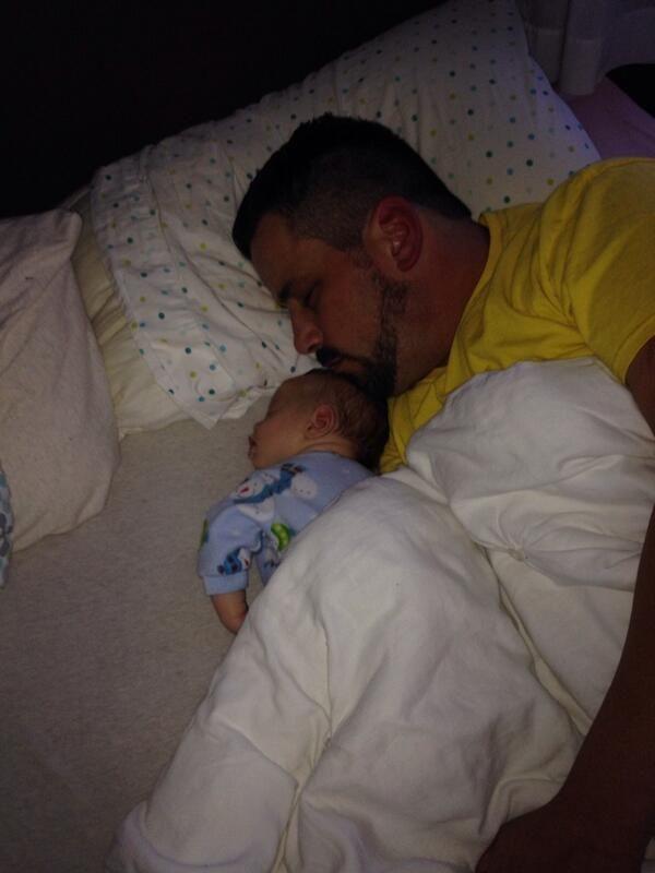 Steve Corino & his new son Beckham (nicknamed Beck)