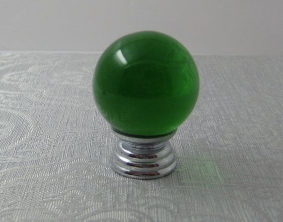 Glass Knobs /Green  Ball Knob / Drawer Knobs / by Dreamchinese, $3.50