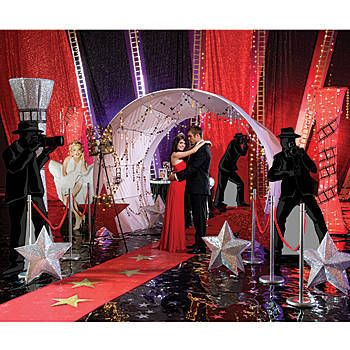 This Red Carpet Event Complete Theme Decorating Kit is perfect for any Hollywood or movie premiere inspired party.
