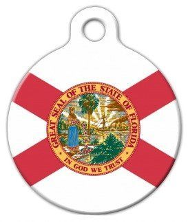 Florida Flag  Custom Pet ID Tag for Dogs and Cats  Dog Tag Art  LARGE SIZE *** For more information, visit image link.