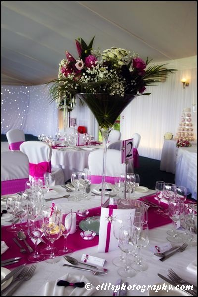 Love the matching table numbers, place cards, menus all with the gorgeous sparkles