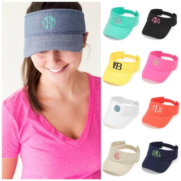 Personalized Womens VISOR HAT Baseball Cap Beach Pool Sports