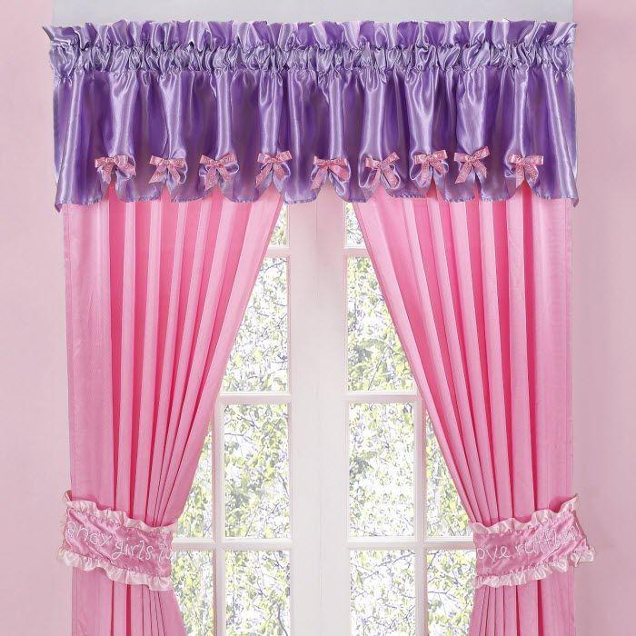 Beautiful Pink Purple silk #curtain