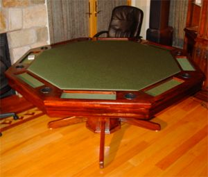 Octagon Poker Table DIY construction, use for gaming table of all kinds. Nice design, kind of complicated, uses lots of tools.