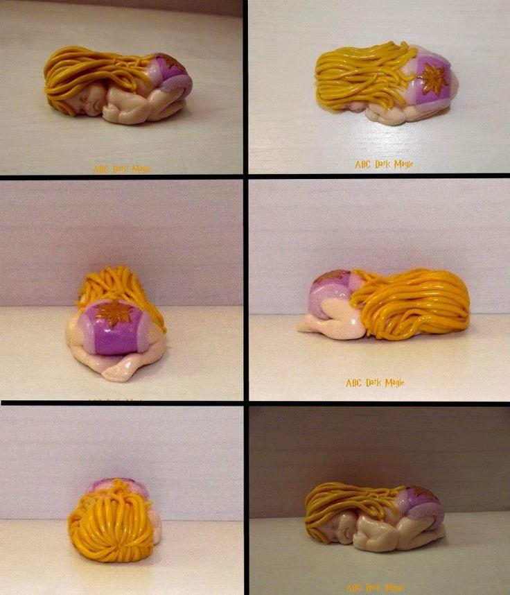 Figurine bébé Raiponce disney en fimo