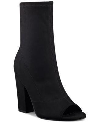 GUESS Women's Galyna Open-Toe Mid-Shaft Boots | macys.com